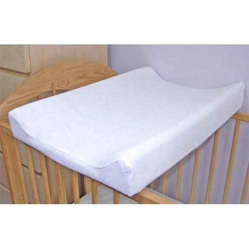 Baby Nellys Jersey poťah na prebaľovaciu podložku - 60cm x 80cm-  biely
