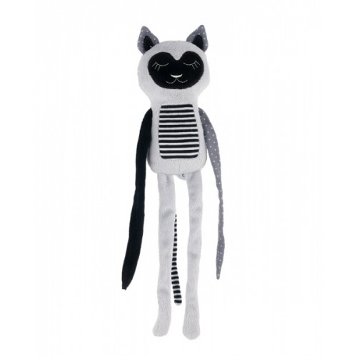 Canpol babies Plyšová hračka s rolničkou Spiace lemur - sivý