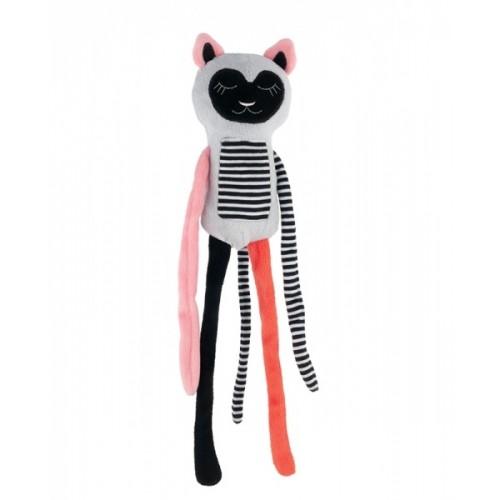 Canpol babies Plyšová hračka s rolničkou Spiace lemur - korál