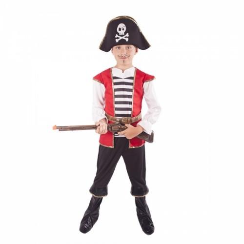 Kostým pirát s klobúkom veľ. M