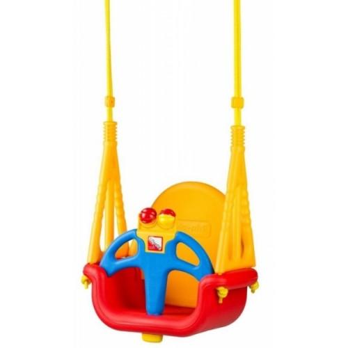 Eco toys Záhradná hojdačka 3v1 - červeno/žltá