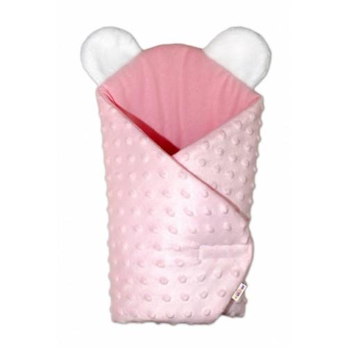 Sada pre bábiku Baby Nellys - zavinovačka, perinka a vankúšik Minky - ružová