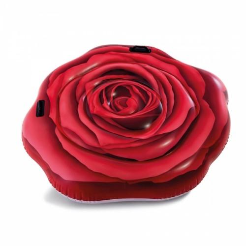 Nafukovacie lehátko Červená ruža 137 x 132 cm