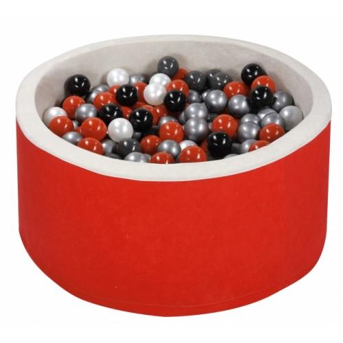 NELLYS Bazen pre děti 90x40cm + 200 balónků - červený