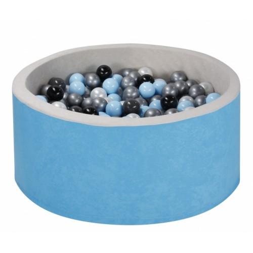 NELLYS Bazen pre děti 90x40cm + 200 balónků - modrý