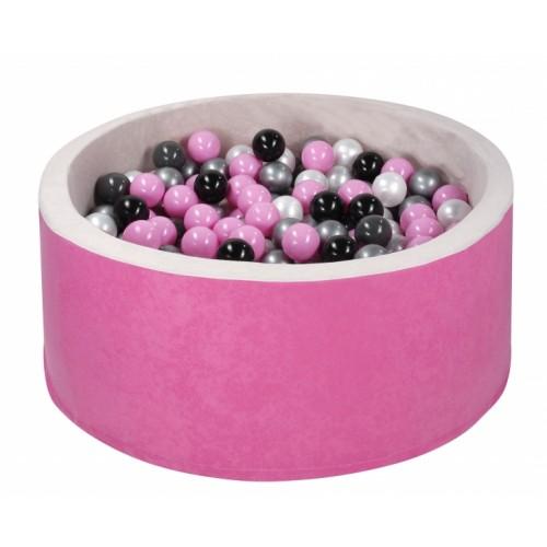 NELLYS Bazen pre děti 90x40cm + 200 balónků - růžový