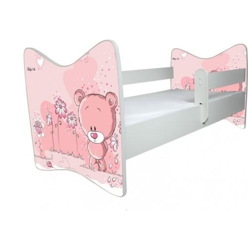 BabyBoo Dětská postieľka Medvedik STYDLÍN růžový - 120x60cm, D19 - 140x70