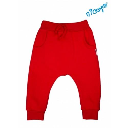 Detské bavlnené tepláky Nicol, Sailor - červené, veľ. 122 - 122