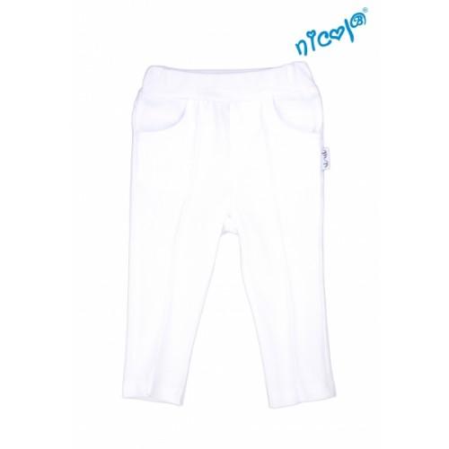 Detské bavlnené kalhoty Nicol, Sailor - biele, veľ. 122 - 122