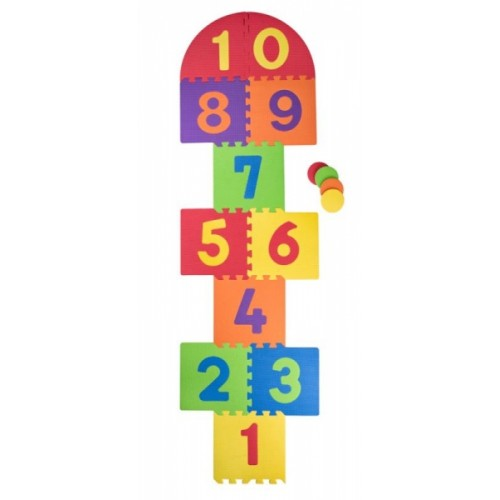 """Plastica Penové podlahové puzzle """"Skákací panák"""" - 21 ks"""