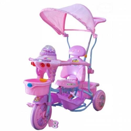 Detská multifunkčná trojkolka Euro Baby Ufo - ružovo/fialová