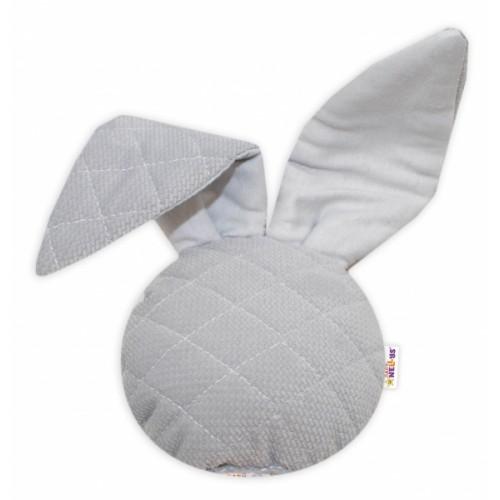 Baby Nellys Hrkálka / přítulníček, Mini zajačik - Velvet, šedý