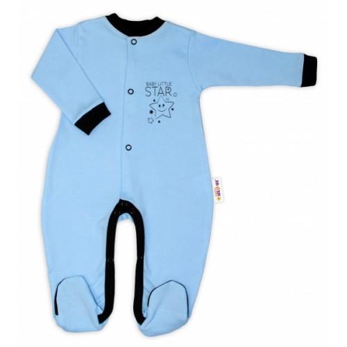 Baby Nellys Bavlnený overal Baby Little Star - modrý, veľ. 80 - 80 (9-12m)