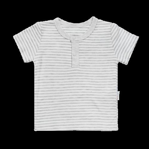 Bavlnené Polo tričko Mamatti Gentleman krátky rukáv - sivé - 68 (4-6m)