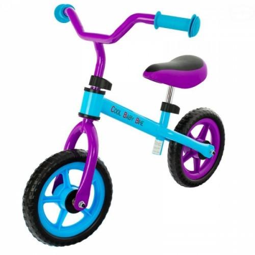 """Euro Baby Detské odrážadlo, bicykel Cool Baby - fialovo/modré, kola - 9.5"""""""