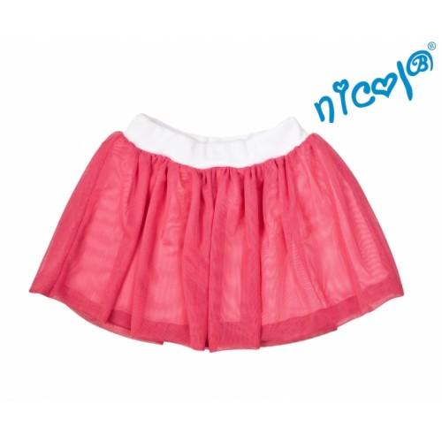 Dětská sukne Nicol, Mořská víla - červená, veľ. 98 - 98 (24-36m)