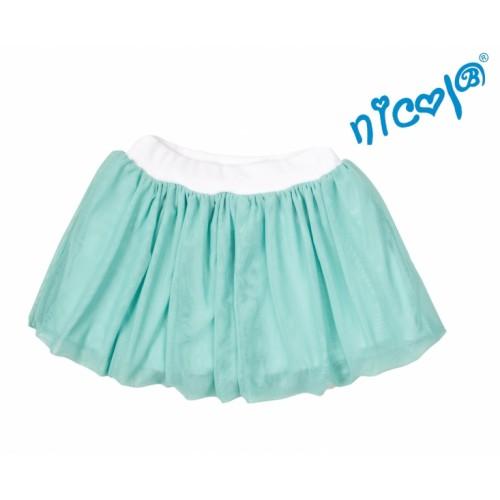 Detská sukne Nicol, Mořská víla - zelená  - 92 (18-24m)