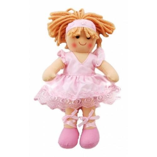 Bigjigs Látková bábika Sofia Baletka, 27cm