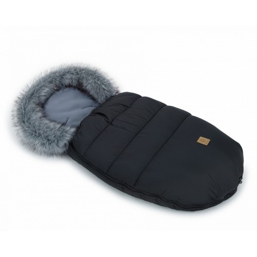 Mamo Tato Zimný fusak Lux s kožušinkou, 50 x 100cm -  Čierný/grafit