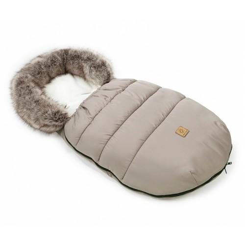 Mamo Tato Zimný fusak Lux s kožušinkou, 50 x 100cm -  Béžová/ecru