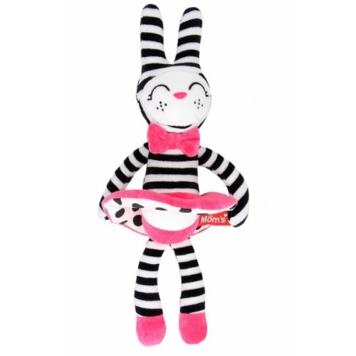 Hencz Toys Plyšová hračka v kontrastných farbách králičia slečna - růžová