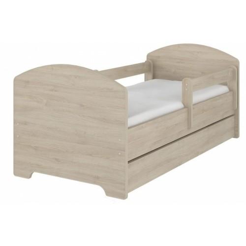 NELLYS Detská posteľ SABI vo farbe svetlý dub so zásuvkou + matrac zadarmo, D19 - 140x70