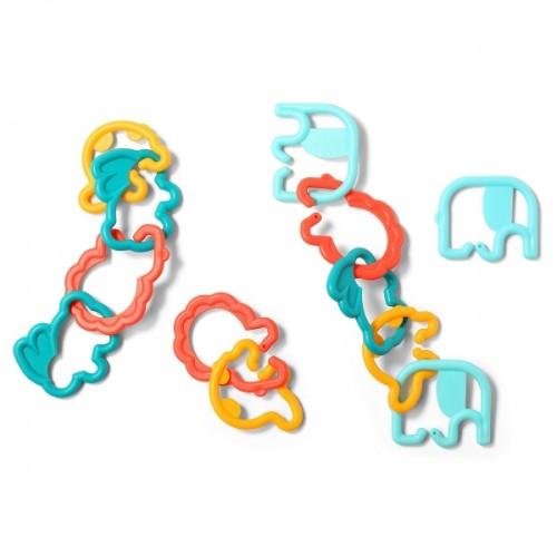 BabyOno Plastové tvary zvieratiek 498, rozne farby