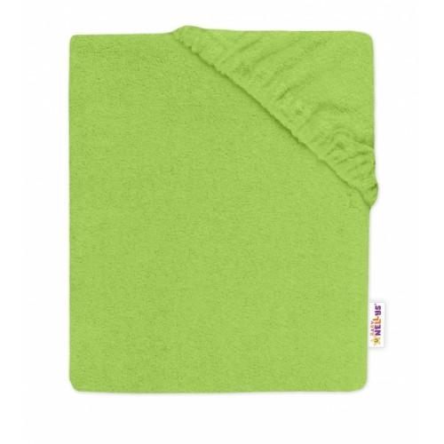 Baby Nellys Detská froté plachta do postieľky -zelené - 120x60