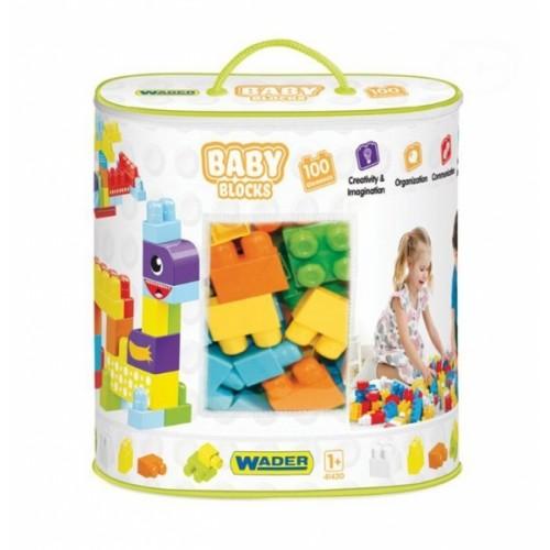 Kocky baby blocks  Wader, 100 kusov + nálepky
