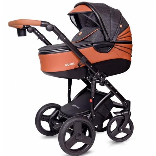 Kočík Coto Baby 2 v 1 QUARA Eco 2021 - tm. šedá, hnědá