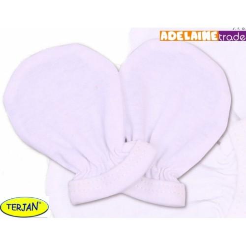 Rukavičky bavlna Terjan - biele, veľ. 2