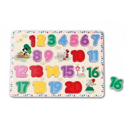 Edukačný drevené puzzle Disney - Mickey Mouse