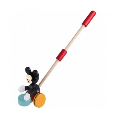 Drevená hračka Disney tahacia - Mickey Mouse