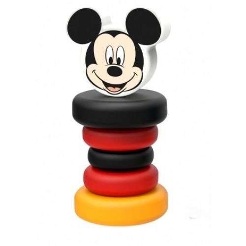 Drevená hrkálka Disney, Mickey Mouse, 5 x 5 x 12 cm