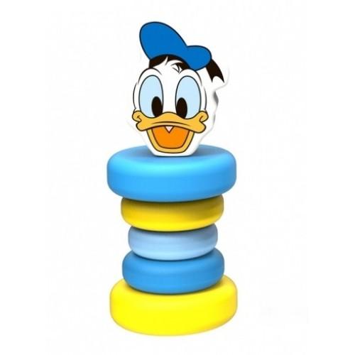 Drevená hrkálka Disney, Kačer Donald, 5 x 5 x 12 cm