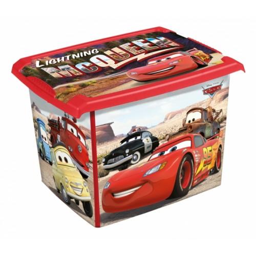 Keeeper Box na hračky Cars  20 l - červený