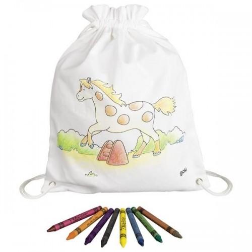 Goki Detský bavlnený vrecúško k vyfarbeniu - Koník