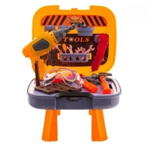 Euro Baby Detská dielňa s náradím v pojazdnom kufríku - 35ks