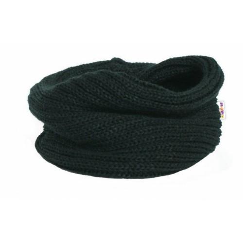 Pletený nákrčník / komínok Baby Nellys ® - čierny - 3-8let