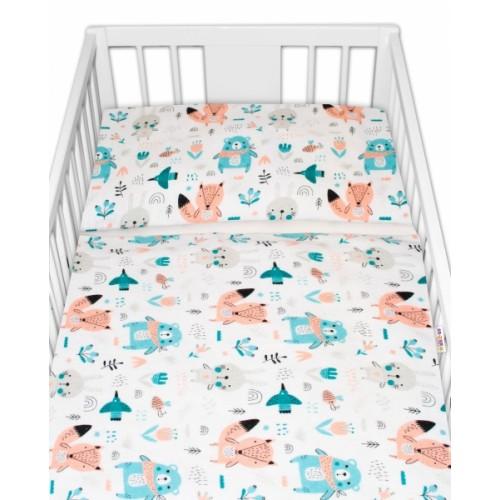 Baby Nellys flanelové obliečky 120x90 - Forest girl  - 120x90