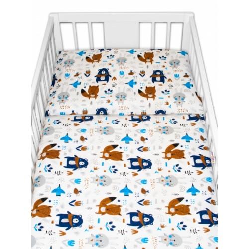 Baby Nellys flanelové obliečky 120x90 - Forest boy - 120x90