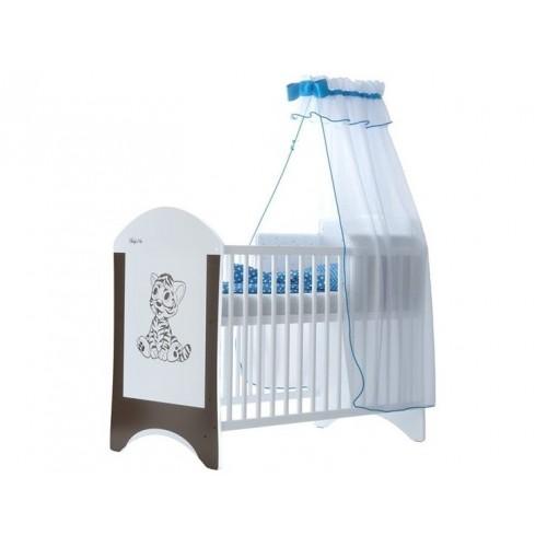Babyboo Detská postieľka LUX s motivom Tigrík, 120 x 60 cm