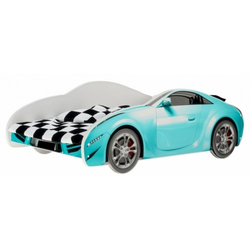 Nellys Detská posteľ Super Car - modrá, 160 x 80 cm - 160x80