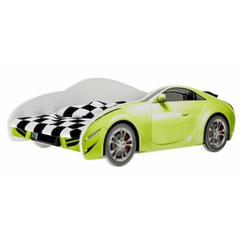 Nellys Detská posteľ Super Car - zelená, 160 x 80 cm - 160x80