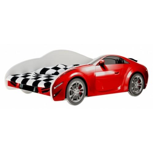 Nellys Detská posteľ Super Car - červená, 160 x 80 cm - 160x80