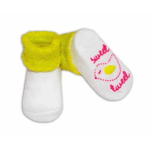 Dojčenské ponožky  0-6 m,RISOCKS rôzne motívy - sv. zelená - 0/6 měsíců