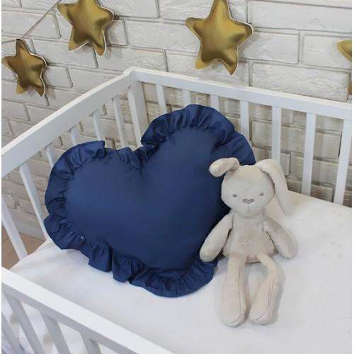 Baby Nellys Dekoračné obojstranný vankúšik - Srdce, 45 x 40 cm - tmavě modré