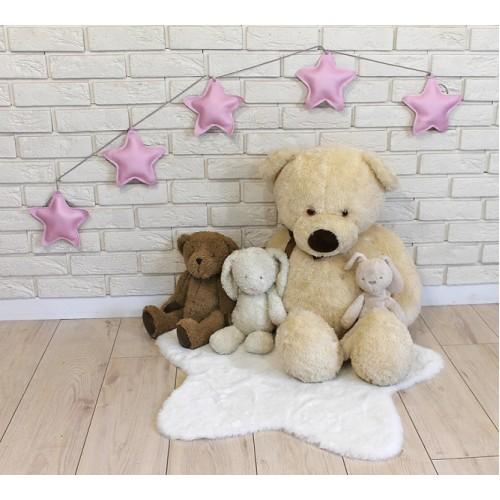 Ozdobná girlanda z eko kože Baby Nellys Hviezdičky - ružové