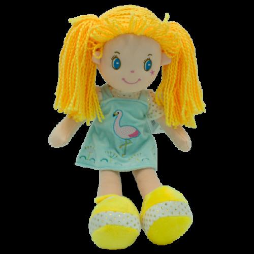 Handrová bábika Barborka, Tulilo, 35 cm - žltá