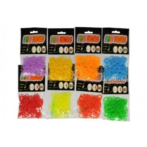Urob si svoj náramok - gumičky na pletenie gumové asst mix farieb 300ks v sáčku